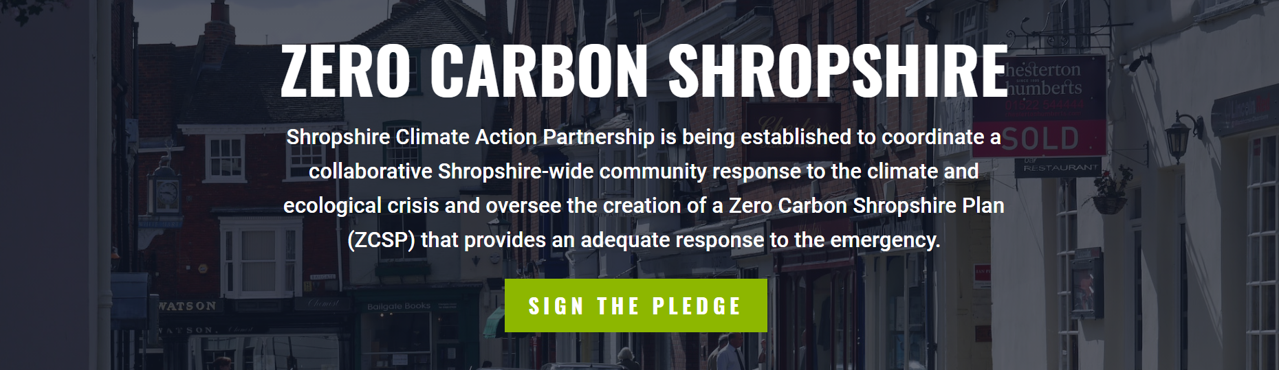 Sign the pledge button